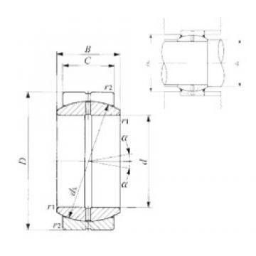 70 mm x 105 mm x 49 mm  IKO GE 70ES plain bearings