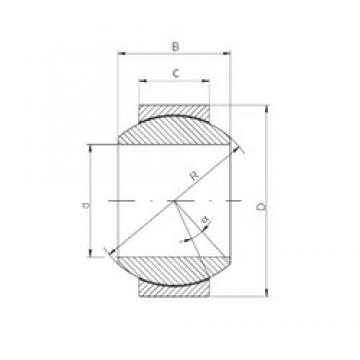 30 mm x 55 mm x 32 mm  ISO GE 030 HCR-2RS plain bearings