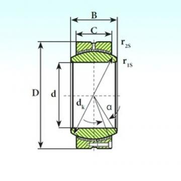 380 mm x 540 mm x 272 mm  ISB GE 380 CP plain bearings