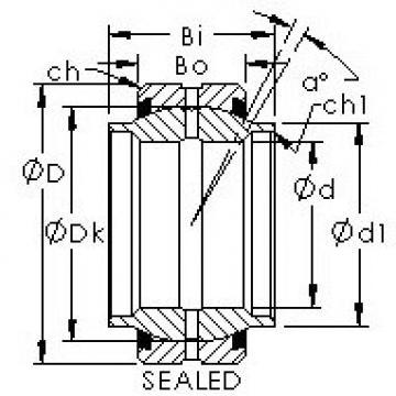 AST GEEM35ES-2RS plain bearings