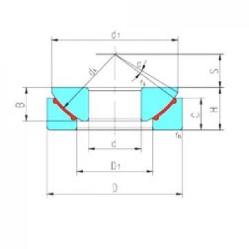 45 mm x 120 mm x 31 mm  LS GX45N plain bearings