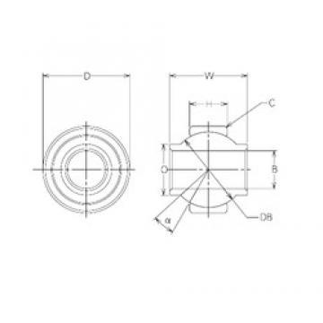 6 mm x 19 mm x 6 mm  NMB MBY6CR plain bearings