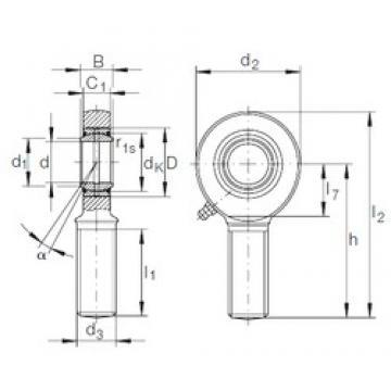 6 mm x 14 mm x 6 mm  INA GAR 6 DO plain bearings