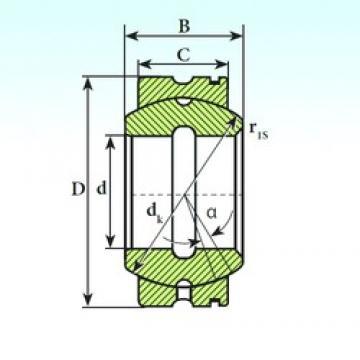65 mm x 105 mm x 55 mm  ISB GE 65 XS K plain bearings
