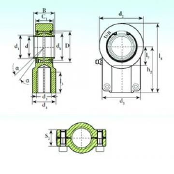 40 mm x 62 mm x 40 mm  ISB TAPR 640 CE plain bearings
