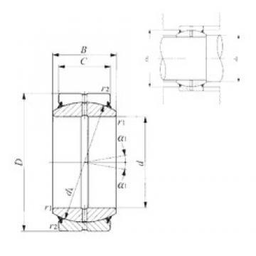 160 mm x 230 mm x 105 mm  IKO GE 160ES-2RS plain bearings