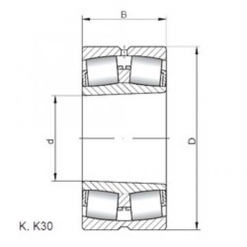 1000 mm x 1420 mm x 412 mm  ISO 240/1000 K30W33 spherical roller bearings