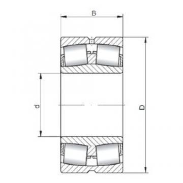 460 mm x 620 mm x 118 mm  ISO 23992W33 spherical roller bearings