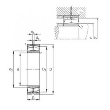380 mm x 620 mm x 243 mm  FAG 24176-E1 spherical roller bearings