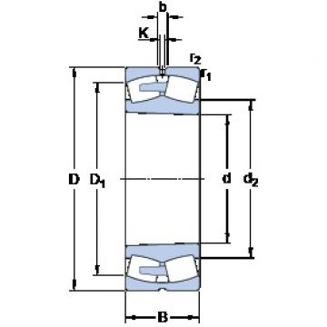 460 mm x 620 mm x 118 mm  SKF 23992 CAK/W33 spherical roller bearings