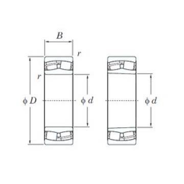 170 mm x 260 mm x 67 mm  KOYO 23034RHK spherical roller bearings
