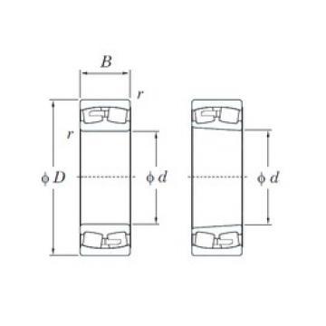 380 mm x 680 mm x 240 mm  KOYO 23276R spherical roller bearings