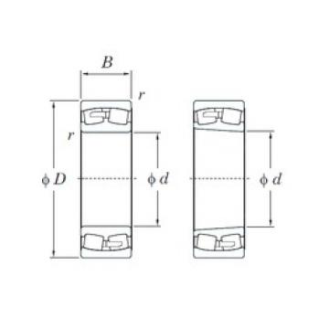 480 mm x 650 mm x 128 mm  KOYO 23996R spherical roller bearings