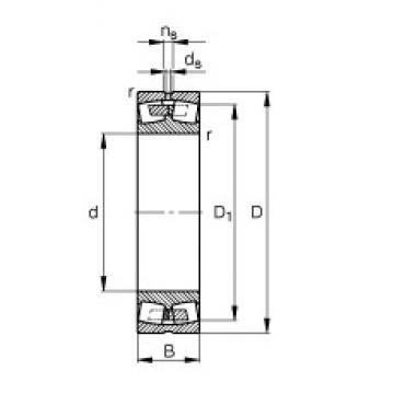 200 mm x 280 mm x 60 mm  FAG 23940-S-MB spherical roller bearings