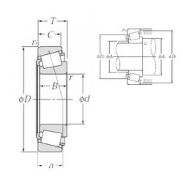 85,725 mm x 161,925 mm x 48,26 mm  NTN 4T-758/752 tapered roller bearings