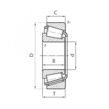 38 mm x 63 mm x 19 mm  SKF BT1B 332821BA/Q tapered roller bearings