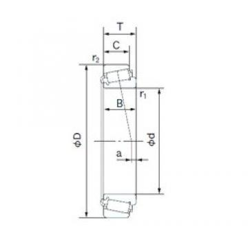 34.987 mm x 59.131 mm x 16.764 mm  NACHI H-L68149/H-L68110 tapered roller bearings