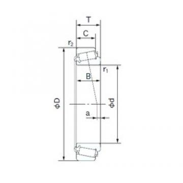 40 mm x 80 mm x 23 mm  NACHI E32208J tapered roller bearings