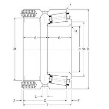 190,5 mm x 290 mm x 52 mm  Gamet 206190X/206290P tapered roller bearings