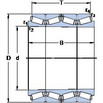 419.1 mm x 590.64 mm x 469.9 mm  SKF BT4B 328564/HA4 tapered roller bearings