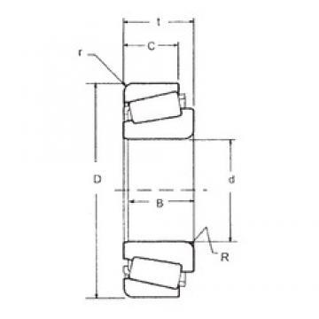 38,1 mm x 69,012 mm x 19,05 mm  FBJ 13685/13621 tapered roller bearings