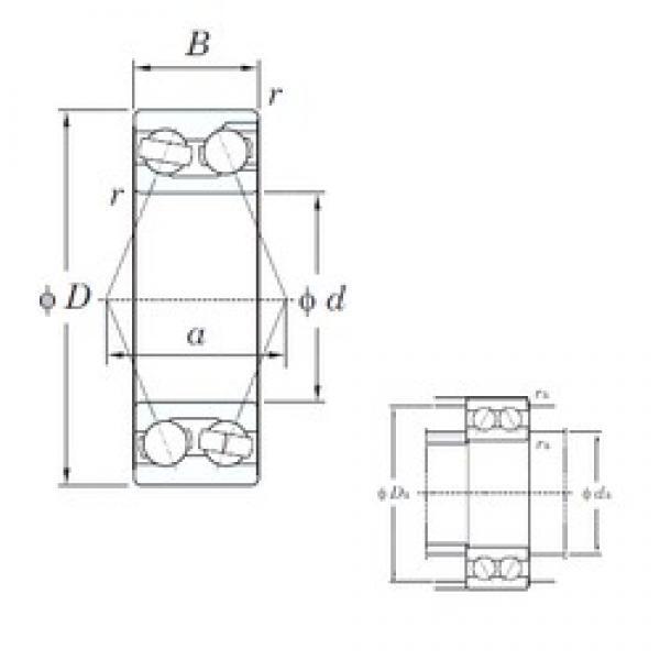 65 mm x 140 mm x 58.7 mm  KOYO 3313 angular contact ball bearings #3 image
