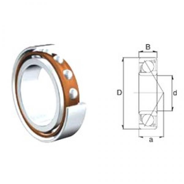 45 mm x 85 mm x 19 mm  ZEN S7209B angular contact ball bearings #3 image