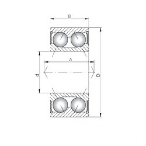 ISO 3313-2RS angular contact ball bearings #3 image