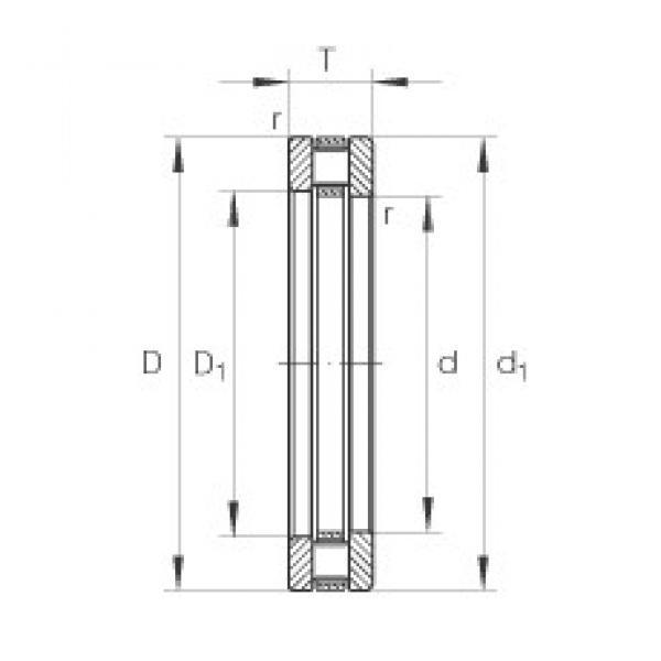 INA 81224-TV thrust roller bearings #3 image