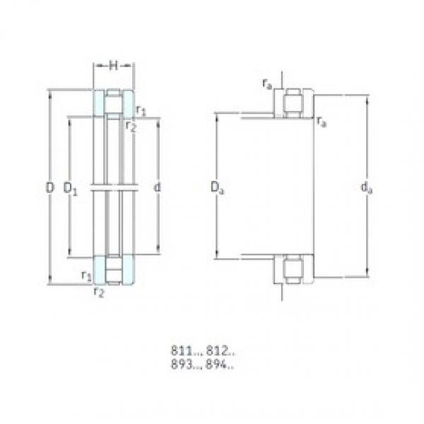 80 mm x 115 mm x 8,5 mm  SKF 81216TN thrust roller bearings #3 image