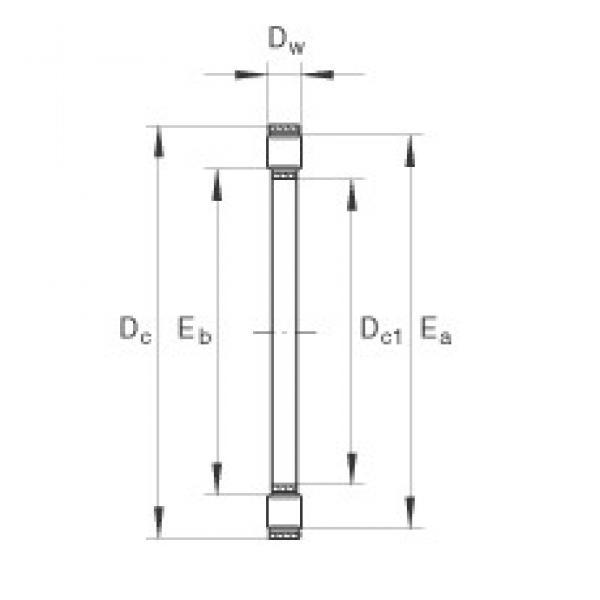 INA K81244-M thrust roller bearings #1 image