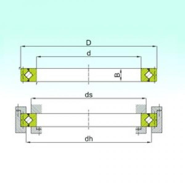 700 mm x 815 mm x 45 mm  ISB CRB 70045 thrust roller bearings #3 image