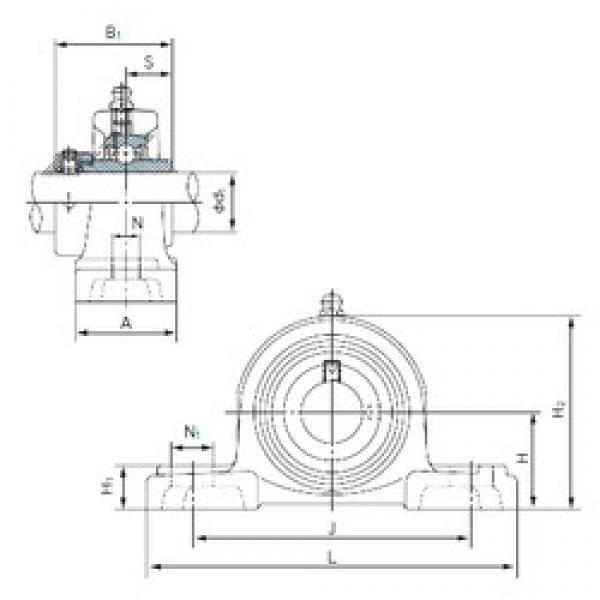 NACHI UGP209 bearing units #3 image