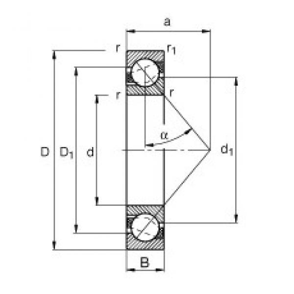 75 mm x 130 mm x 25 mm  FAG 7215-B-TVP angular contact ball bearings #3 image
