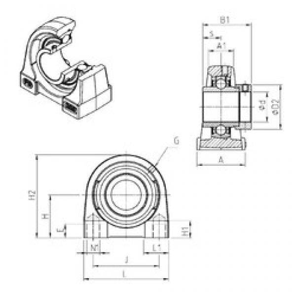 SNR EXPG203 bearing units #3 image