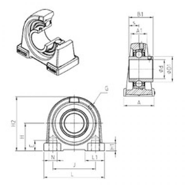 SNR UCPA207 bearing units #3 image