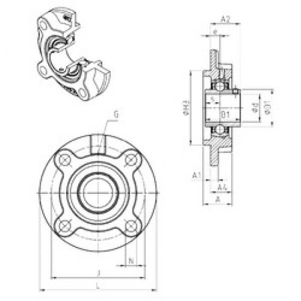 SNR UCFC204 bearing units #3 image