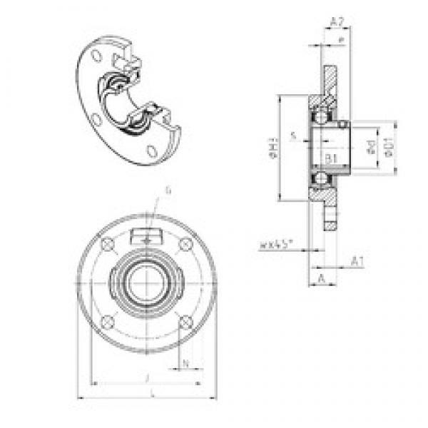 SNR USFCE209 bearing units #3 image