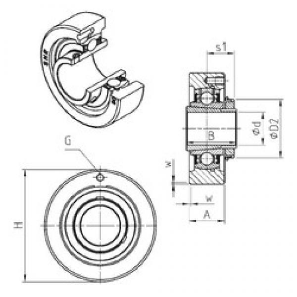 SNR UKC324H bearing units #3 image