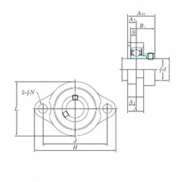 KOYO ALF205 bearing units #3 image