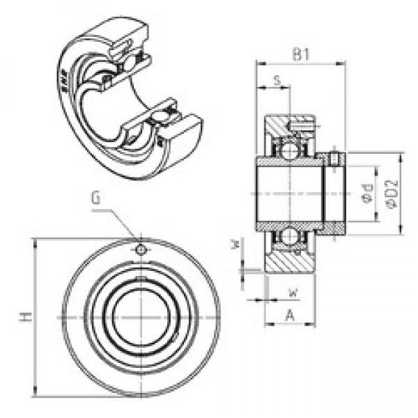 SNR EXC216 bearing units #3 image