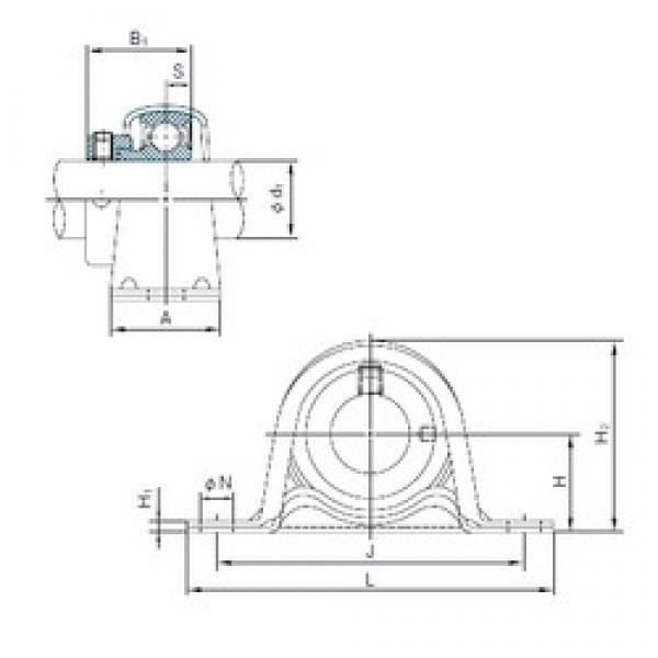 NACHI UCF318 bearing units #3 image