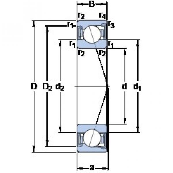 55 mm x 90 mm x 18 mm  SKF S7011 CD/HCP4A angular contact ball bearings #3 image