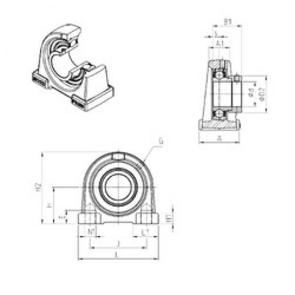 SNR ESPAE202 bearing units #3 image