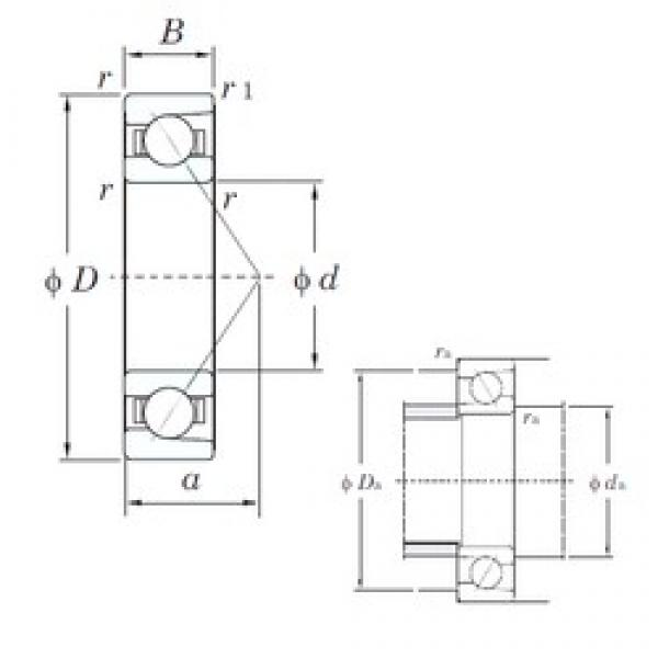 55 mm x 120 mm x 29 mm  KOYO 7311B angular contact ball bearings #3 image