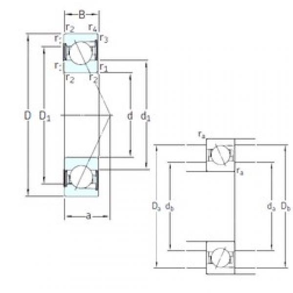 75 mm x 130 mm x 25 mm  SNFA E 275 /S/NS /S 7CE1 angular contact ball bearings #3 image