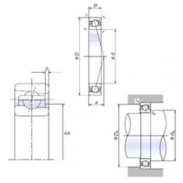 40 mm x 62 mm x 12 mm  NSK 40BER19S angular contact ball bearings #3 image