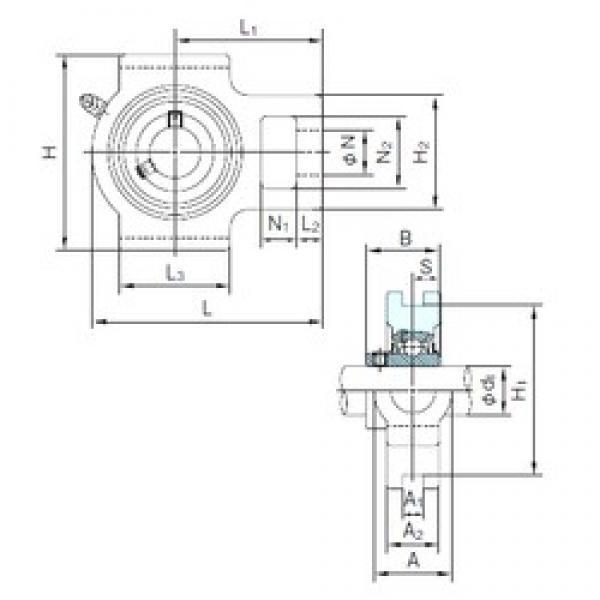 NACHI UCT211 bearing units #3 image