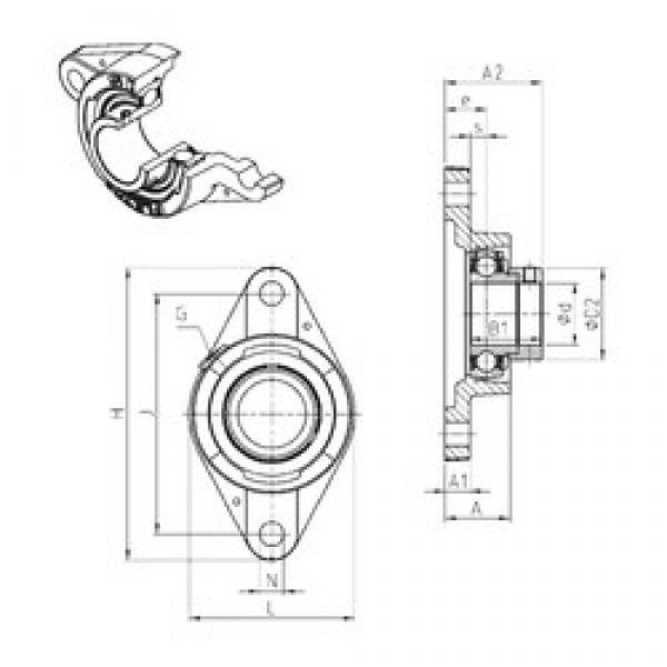 SNR ESFLE209 bearing units #3 image