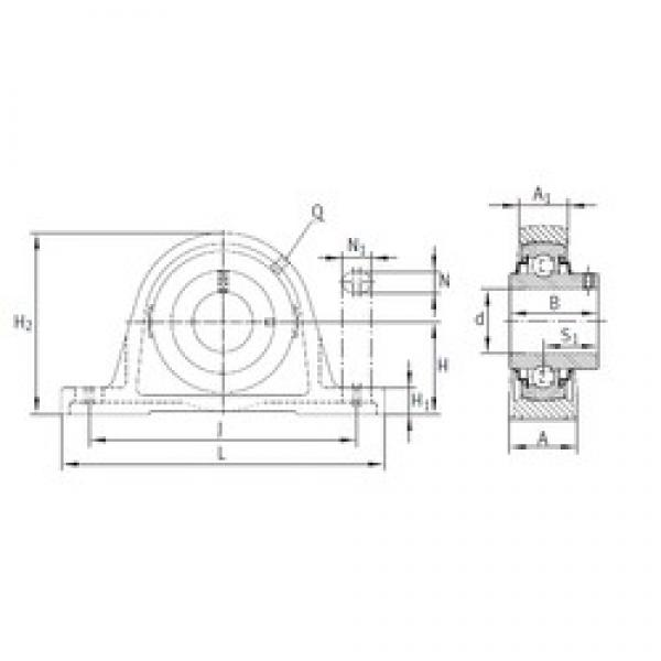 INA RASEY65-214 bearing units #3 image